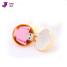 Real capactiy Cheap bulk Boy & girl flash drive/usb plastic load with data for free Model JEC-038