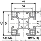 6063 t5 extrudierten 4040 aluminium profil top verkauf produkte