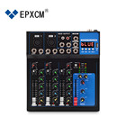 EPXCM/ F4-USB 4 channel Interface audio mixer/sound audio power mixe/USB digital audio music sound mixer +48V Power
