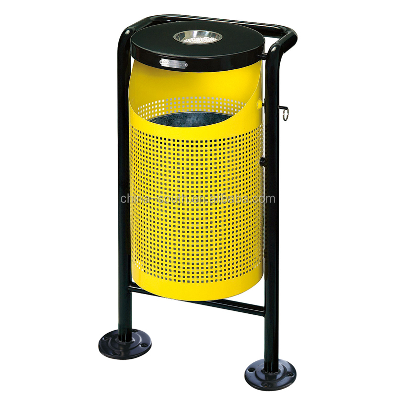 outdoor steel metal ash bin/rubbish bin/waste bin