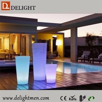 Outdoor Kunststoff Led Licht Blumentopf/führte Beleuchtung Topf Dekoration  Led Blumentopf Set/führte