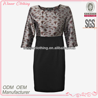 Elegant Body Fit Printed Half Sleeve Dreses Women's Plus Size Apparel