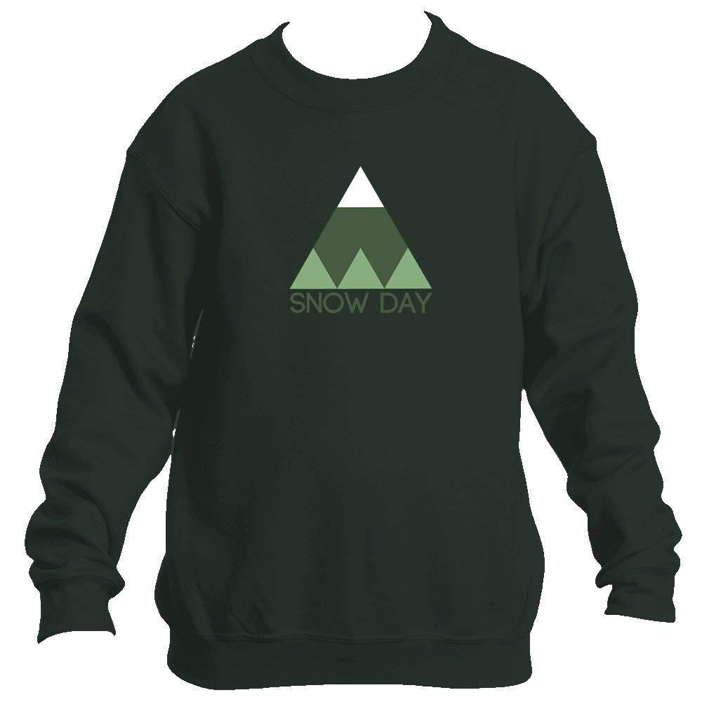 Snow Day Minimal Mountain - Youth Fleece Crew Sweatshirt - Unisex