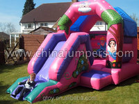 commercial used inflatable pink princess bouncy combo for backyard/school/church/