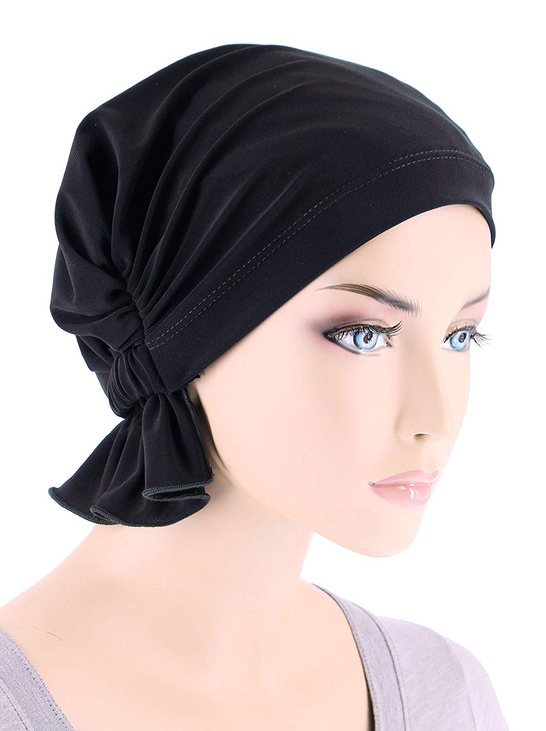 1a34c2bab14 Get Quotations · Turban Plus Abbey Cap in Poly Knit Chemo Caps Cancer Hats  for Women