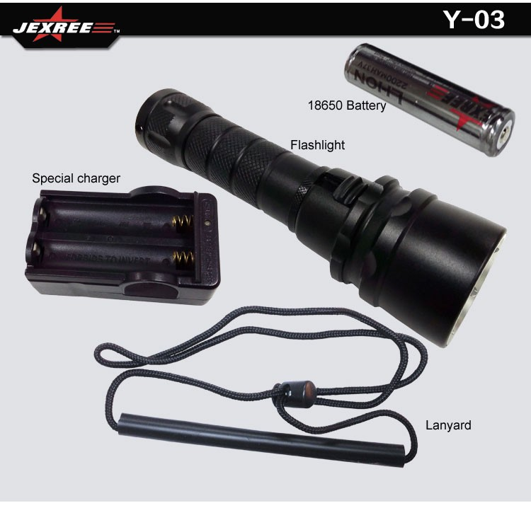 Anti-Corrosive Aviation Aluminum Alloy Small Diving Flashlight