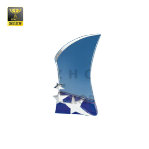 Transparent Star pattern crystal award trophy for sports game