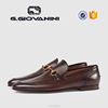 Guangzhou factory price pure handmade buckle strap casual loafers shoes for men