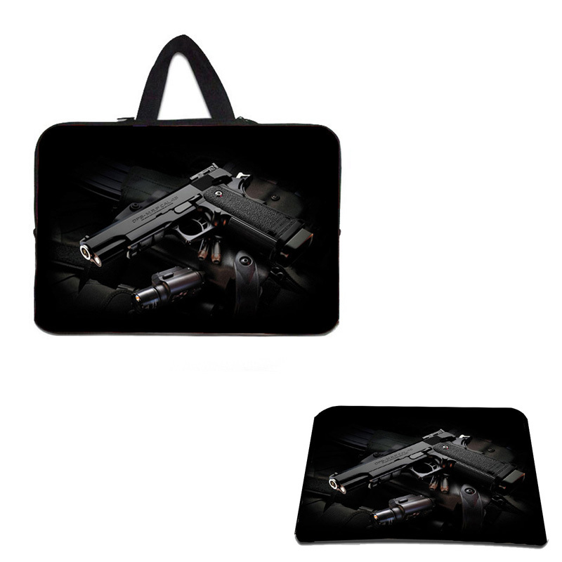 "10.1 11.6 13.3 15.6 17.3"" Computer Bag For Men Zipper Cover Case To Tablet  Neoprene Laptop Bag 15.6 For Macbook Pro + Mouse Pad"