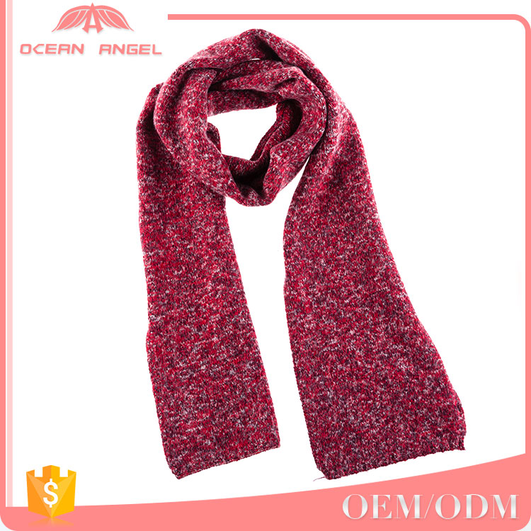 Elgant and high quality custom european style valentines gift mixed color knitted scarves