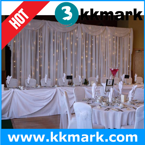 Decorative Chiffon Pipe and Drapes for Party/Photo Booth Exhibition Booth Studio Wedding Stage Backdrop