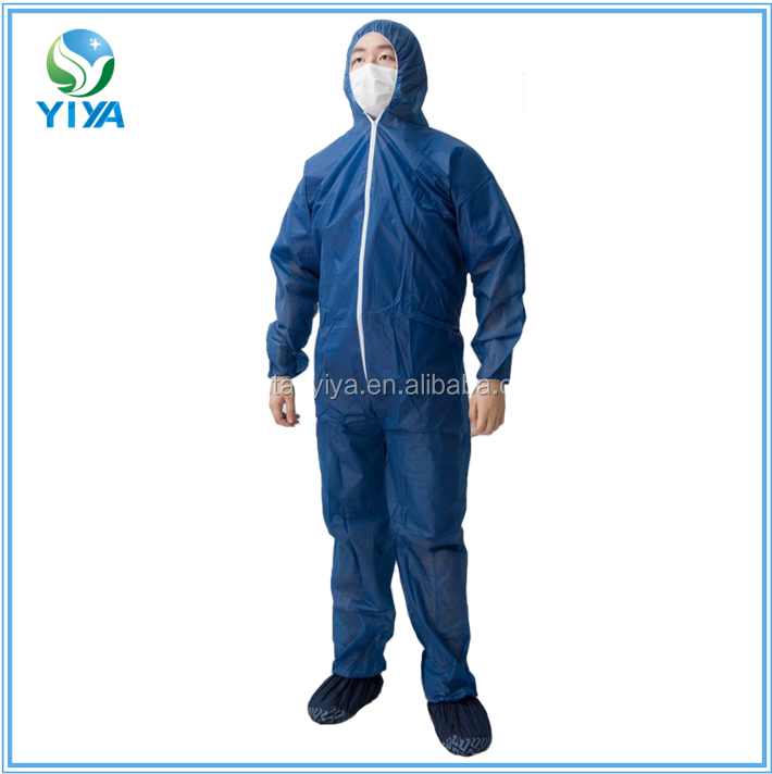 Professional sales certified medical disposable pp non woven coveralls