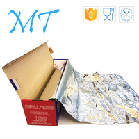customized specification food grade catering &Disposable aluminum foil roll with a metal cutting blade
