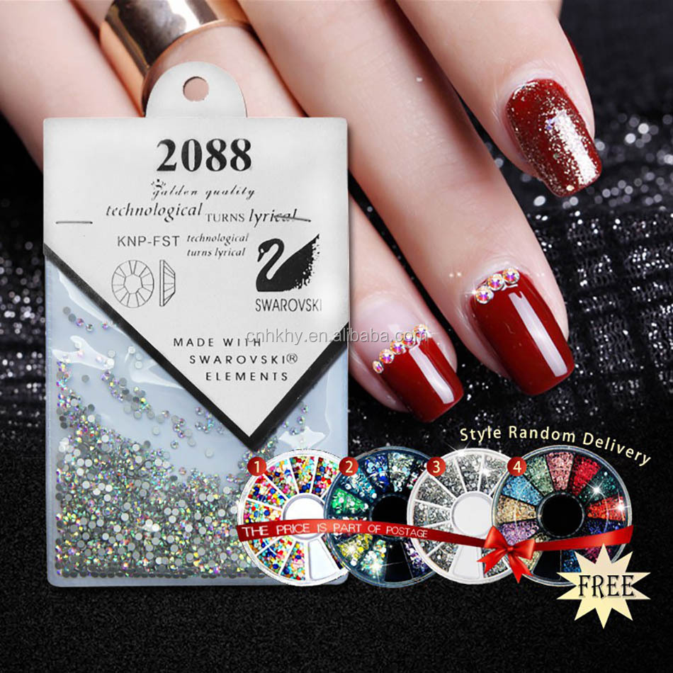 2017 Sale Acrylic Nail Rhinestone Art Crystal 1440pcs Nail Design Phone Decoration Wheel Rhinestones Manicure Tool Glitter Stone