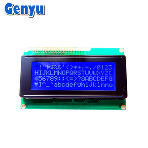 Genyu 5V STN Blue 2004 LCD Display 20x4 Character lcd Module with white LED Backlight And PCB