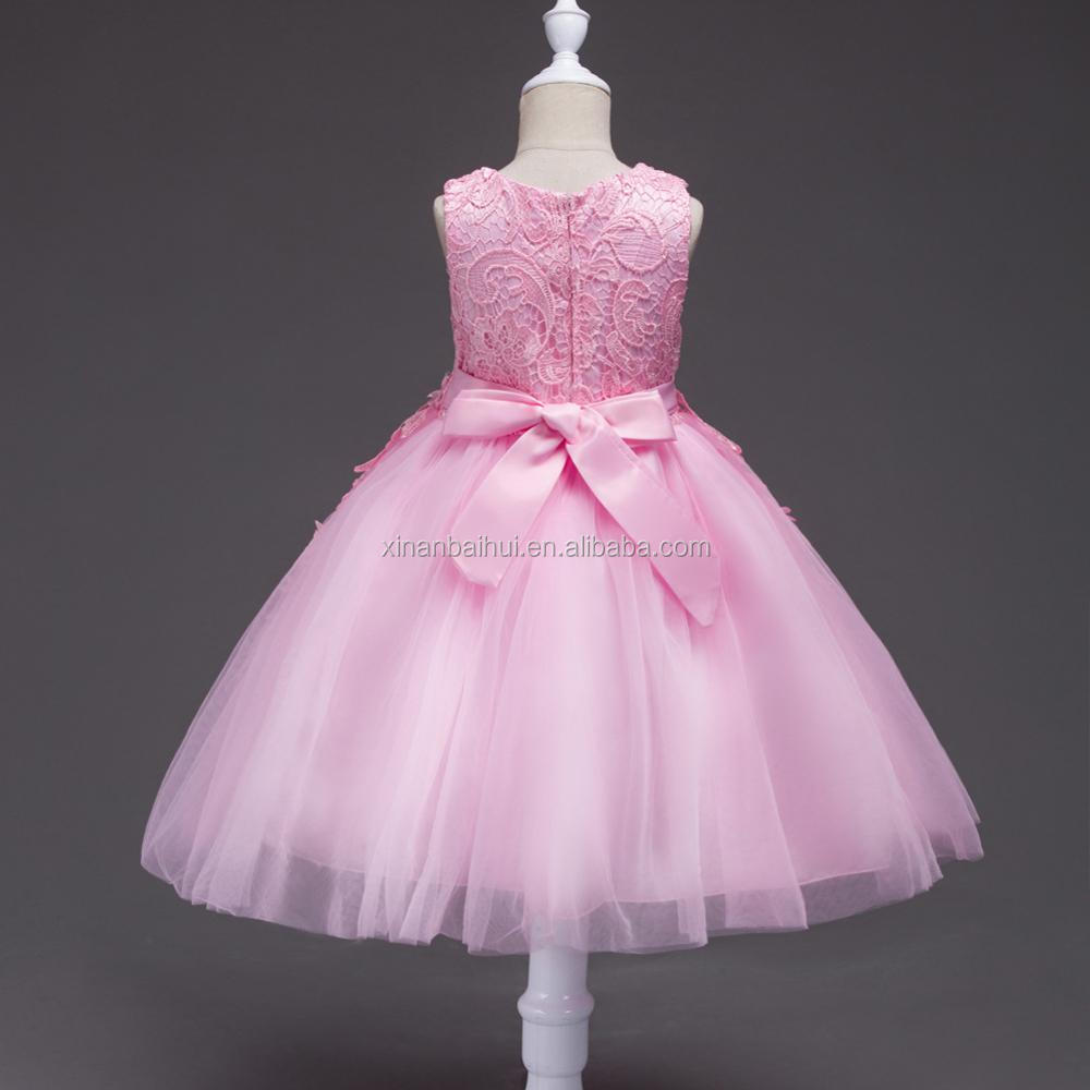1 Years Old Baby Birthday Party Dress Pink Flower Girl Dress Kid ...