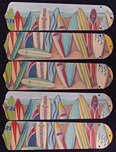 "Hawaiian Surfboards 21"" Ceiling Fan Blades"