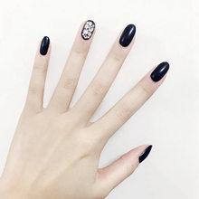24 шт., полное покрытие, искусственный дизайн ногтей с клеем для ногтей, 10 размеров, акриловый пресс на кончики для ногтей, искусственные губк...(Китай)