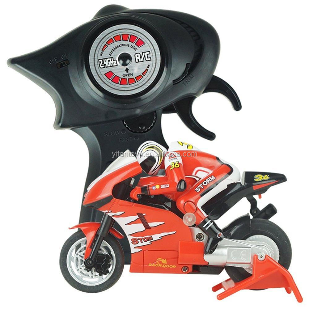 Remote Control Motorcycle Scooter Rider Wireless Radio Goes on 2 Wheels 2.4G 4 Channel 1:20 Scale RC motorcycle