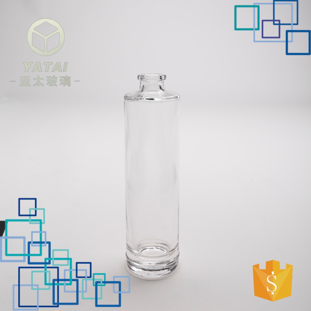 4337#-85ml glass cologne empty clear square fancy glass bottle for perfume