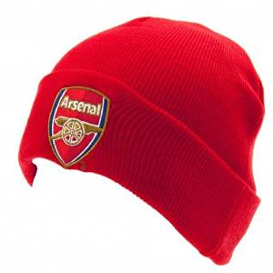 9bad0c5181a Get Quotations · ARSENAL FC Official Knitted Hat TU RD Red Beanie
