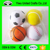 release stress ball with different sports ball shape,pu anti stress ball