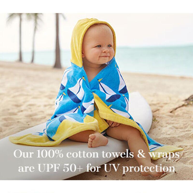 Printed cartoon hooded ponchos Bath Beach Towel for kids Children