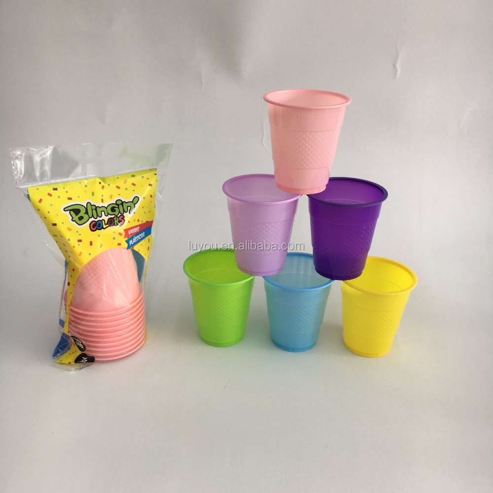 disposable PS plastic party cup,vasos, vasos de plastico