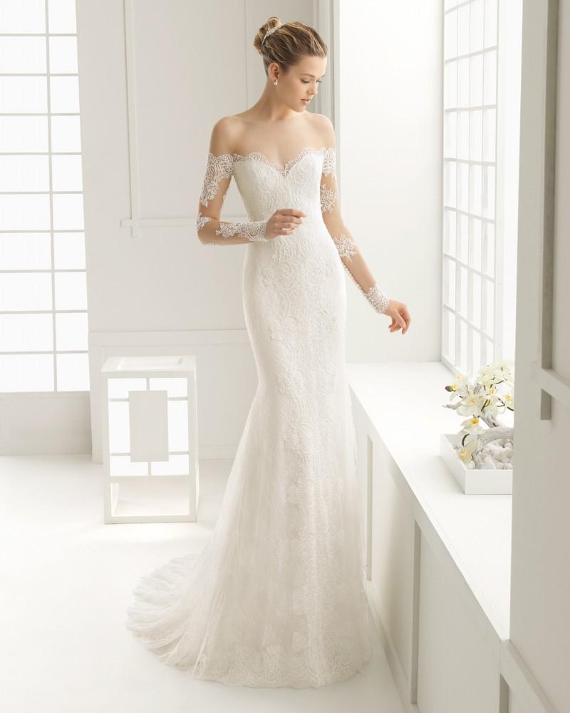 Sheer Lace Long Sleeve Satin Mermaid Wedding Dresses: 2016-Sexy-New-Sheer-Lace-Long-Sleeve-Wedding-Dresses