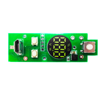 Atomized electronic cigarette control panel