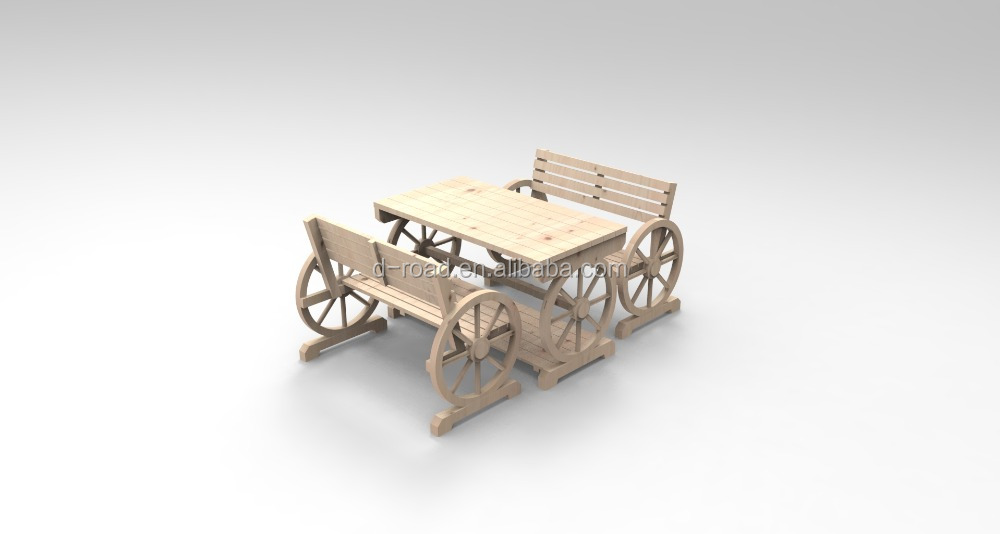 garden wooden wheel new bench large patio product s wagon wholesale uncle wiener