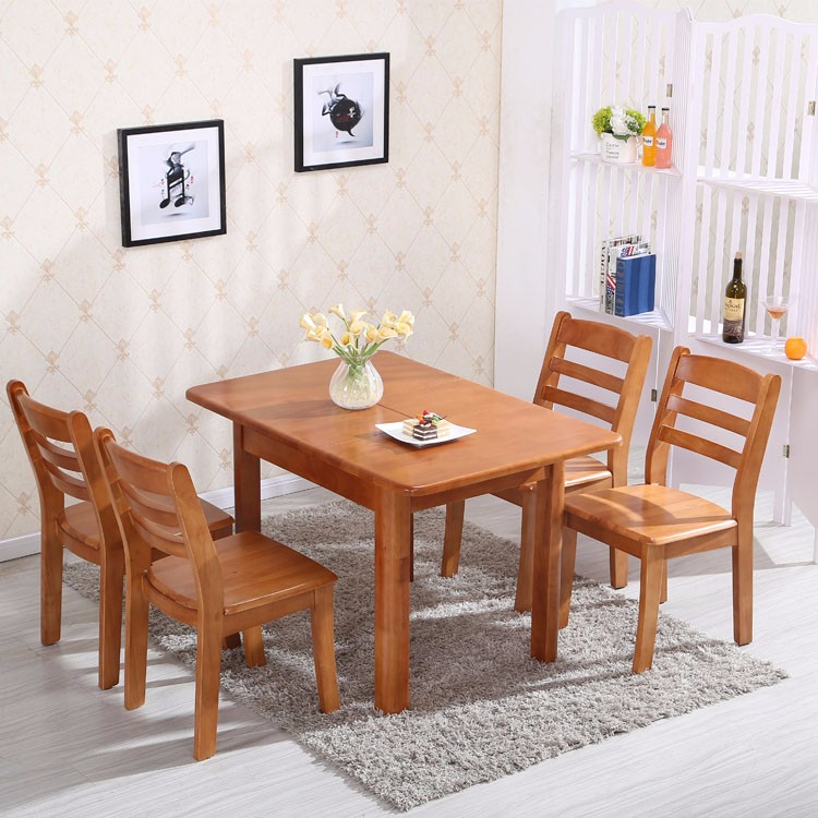 Solid Oak Wooden Rustic Dining Room Tables Kitchen Table