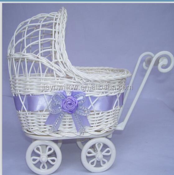 Small Or Large Baby Pram Hamper Wicker Basket For Baby