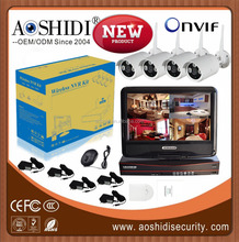 China Cheap CCTV 4 camera Kit ,2.4ghz wireless CCTV camera kit and receiver