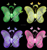 Child performance props supplies double layer butterfly wings one piece dress