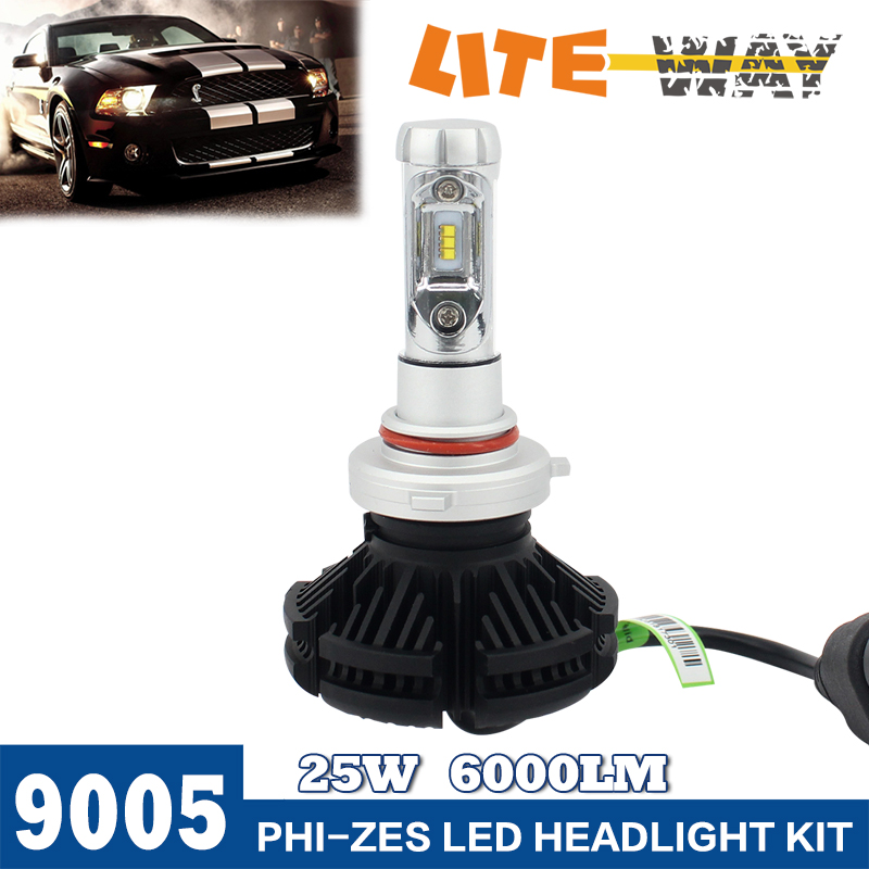 Factory Direct 6000K 6000LM White Plug Play X3 9005 Car LED Light Headlight