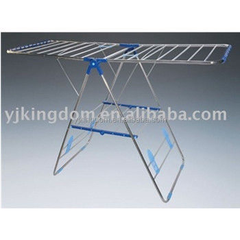 39-8A 2-tier foldable metal wire clothes dryer rack