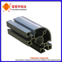 Mill Finish Aluminum Profile Half Round for High Strength Structure