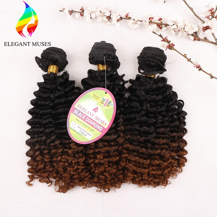 High quality Heat Resistant 3 pcs /pack Jerry Curl 18'' 80g / 240g 3 X Braid Crochet Twist Hair For Africa Women