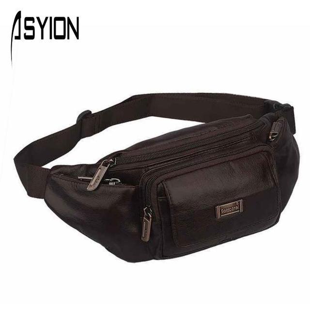 a232a59b022c Asyion 2016 новый бренд мужчины многофункциональный сумки из натуральной  кожи груди .