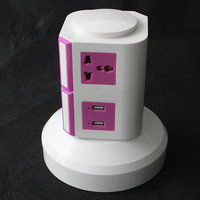 2 layer common types power extension cord adapter plug dual usb vertical electrical usb extension socket