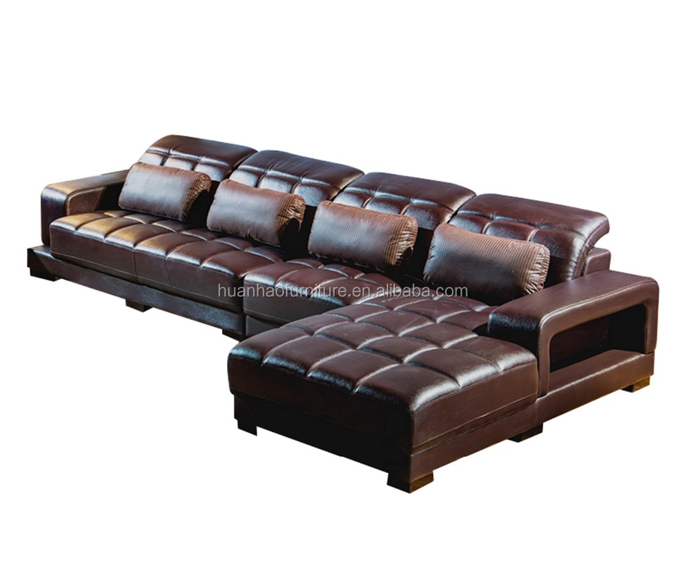 Buying Modern Structure Furniture Online L Shape Brown Leather Sofa ...