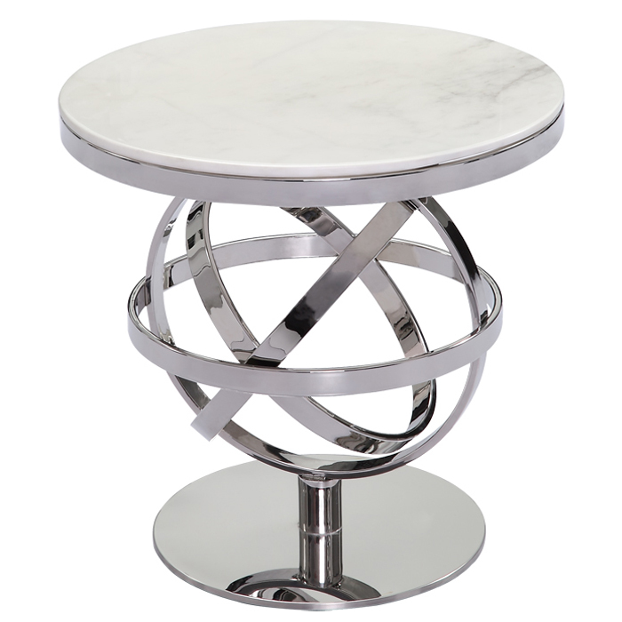 arabic style coffee table stainless steel marble side table