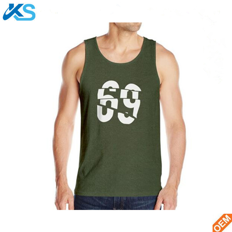 Fashion design Men's Tank top colorful seamless 100%polyester wicking dryfit tank tops vest
