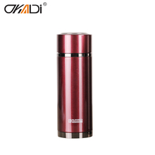 Reusable double wall stainless steel vacuum flask baby straw cup mug