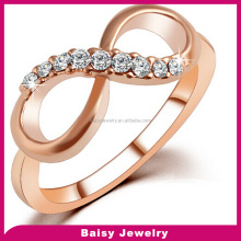 latest design Fashion cheap Plating 18K Gold stainless steel infinity symbol Rings jewelry for women