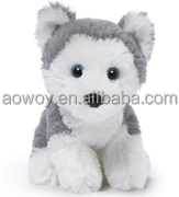 Christmas gray puppy stuffed animal with logo jeans