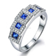 New Fashion Elegant Multi Diamond CZ Ring 925 Sterling Silver Engagement Ring
