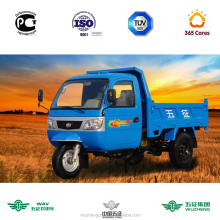 WAW motorized tricycle with enclosed cabin for global cargo customers