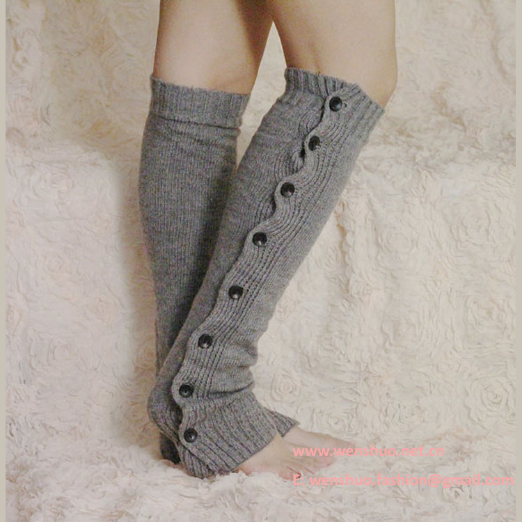 Wholesale New Stylish Knitted Women Warm Knee-high Socks
